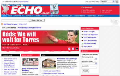 Liverpool Echo website