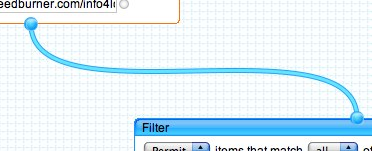 Drag a pipe from Fetch Feed to Filter