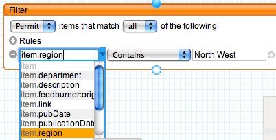 Select the data you are filtering on