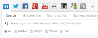 The Storify search box