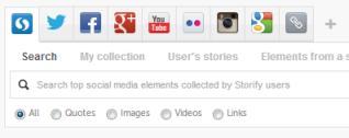 The Storify search box