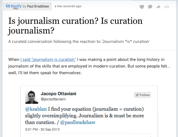 is curation journalism