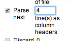 parse next lines headings
