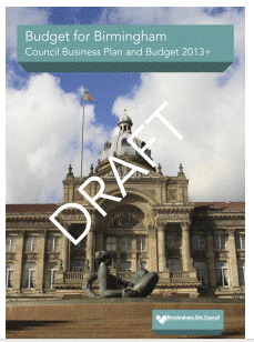Birmingham council draft budget report 2013