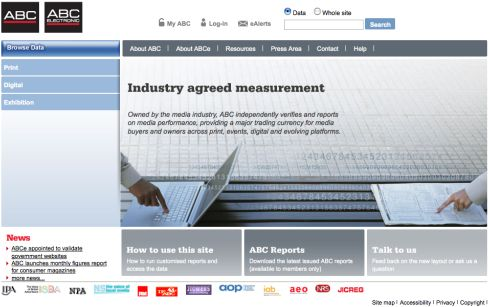 ABCs new homepage. No, it's ABCe's. No, it's aaaaggghhh