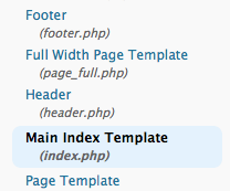 The PHP file being called, as seen in the WordPress editor view