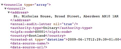 XML from OpenlyLocal