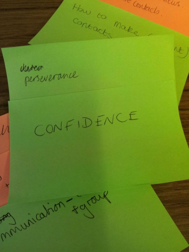 Perseverance and confidence - what students want to learn