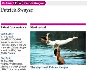 The Guardian's Patrick-Swayze tag page
