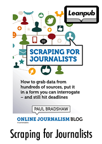 Scraping for Journalists book cover