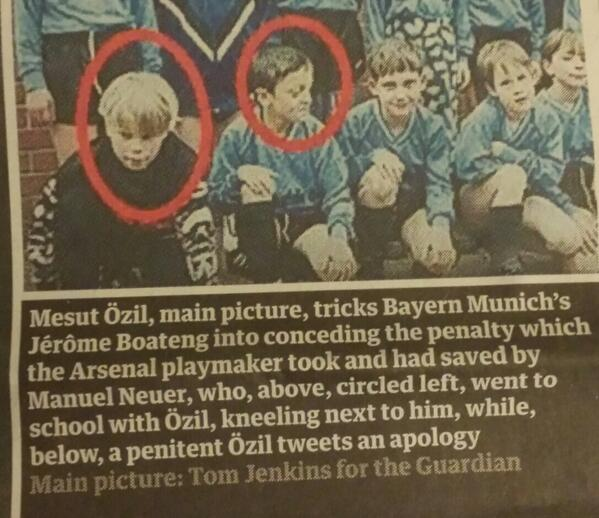 School football team claiming to feature Manuel Neuer