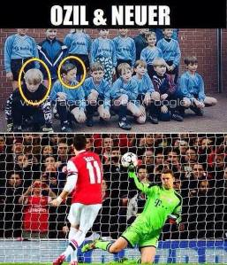 Manuel Neuer's Facebook update of the image - later deleted