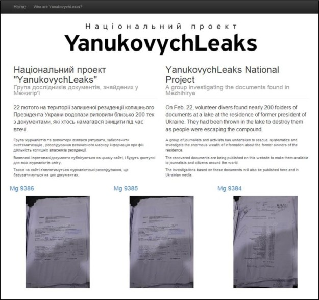 YanukovychLeaks screengrab