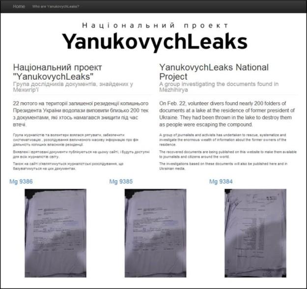 YanukovychLeaks screengrab
