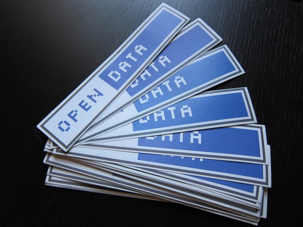 Open Data stickers image by Jonathan Gray