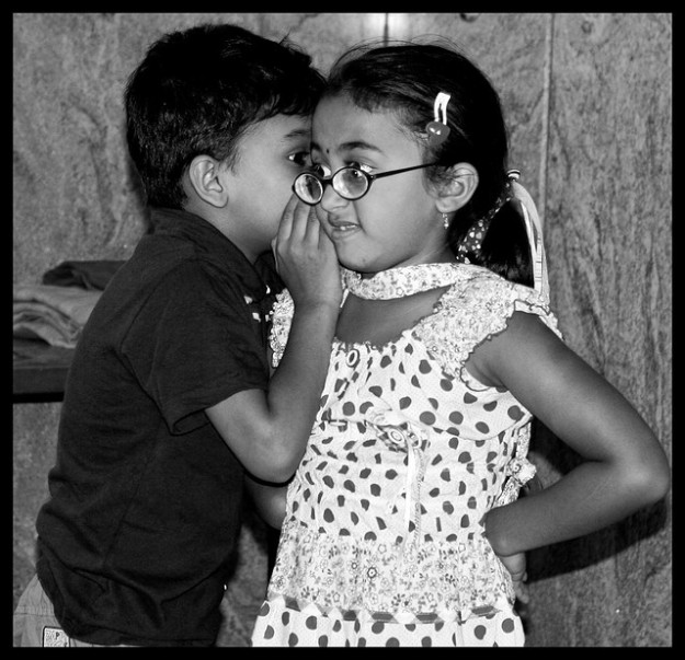 Gossiping kids