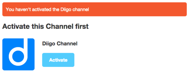 activate diigo channel
