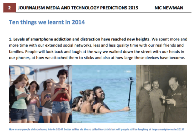 nic newman media predictions 2015