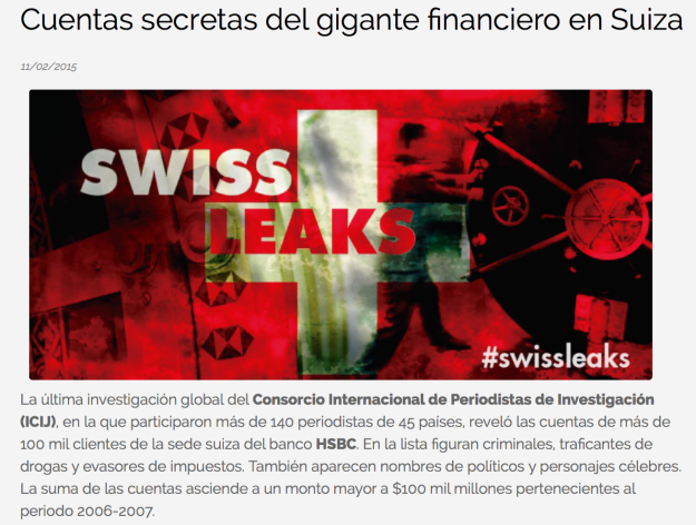 Swiss leaks Convoca
