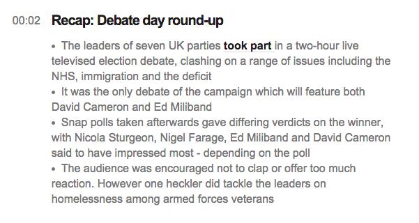 bbc leaders debate liveblog roundup