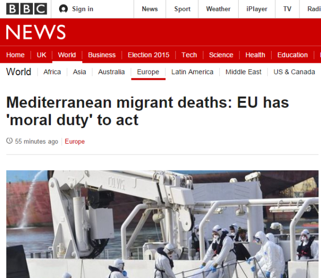 Mediterranean migrant deaths EU has moral duty to act