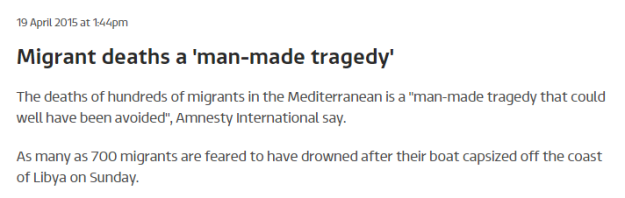 Migrant deaths a man made tragedy ITV News