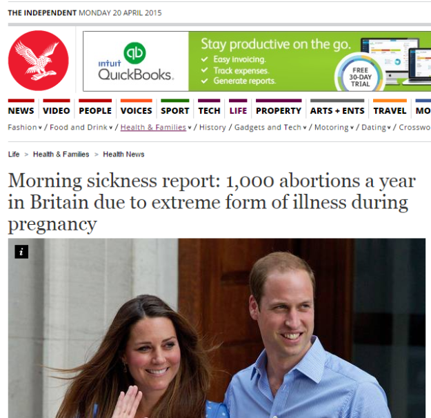 Morning sickness report 1 000 abortions a year in Britain due to extreme form of illness during pregnancy Health News Health Families The Independent