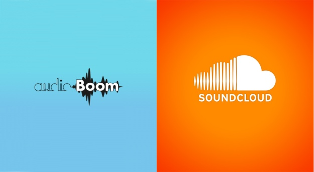soundcloud vs audioboom logo