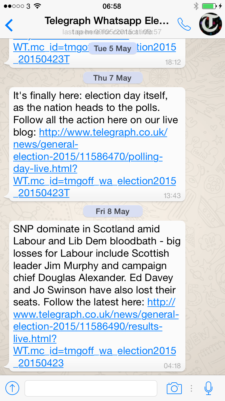 Lessons on using WhatsApp for publishing – an election experience