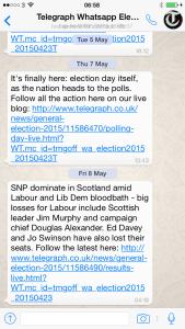 The Telegraph's WhatsApp coverage