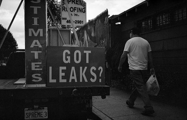 Got leaks? sign