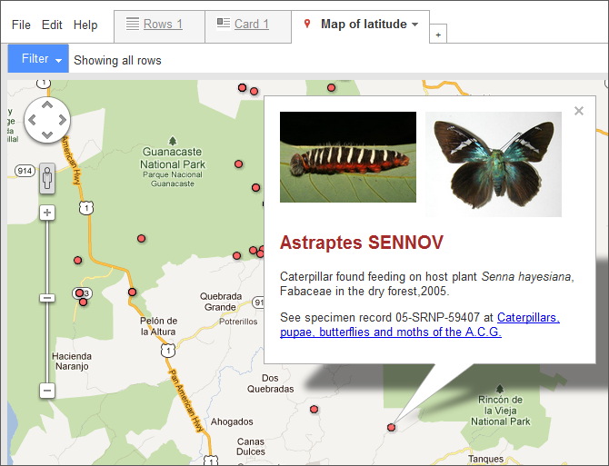 The Fusion Tables Map Info Window Allows You To Embed Images From Urls In The Data