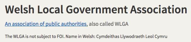 Welsh Government Association FOI