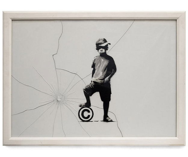 copyright football by Banksy
