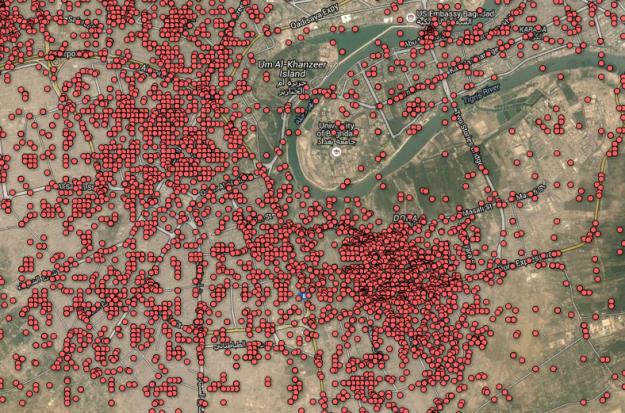 Guardian iraq war logs deaths mapped
