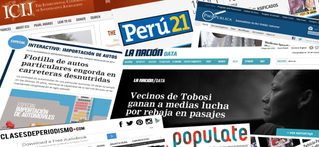 Screenshots of La Nacion, ICIJ