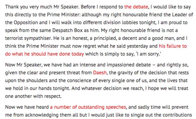 hilary benn speech links