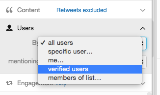 tweetdeck users filter