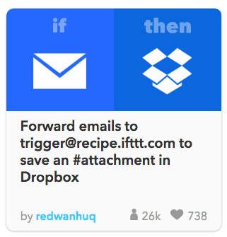 ifttt emails to dropbox