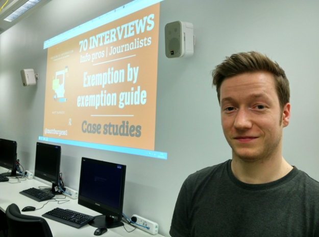 Matt Burgess speaking to students at Birmingham City University