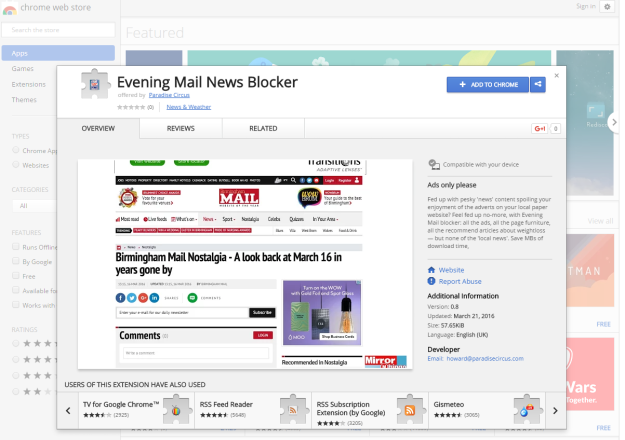 Evening Mail News Blocker Chrome Web Store