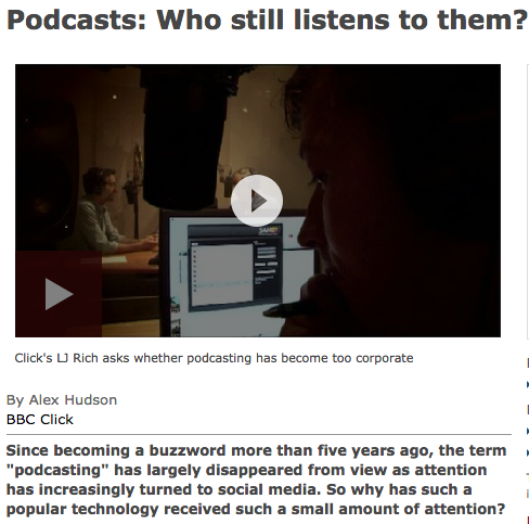 Headline: podcasts who still listens to them