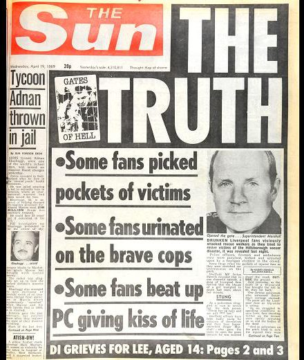 The Truth: Sun front page