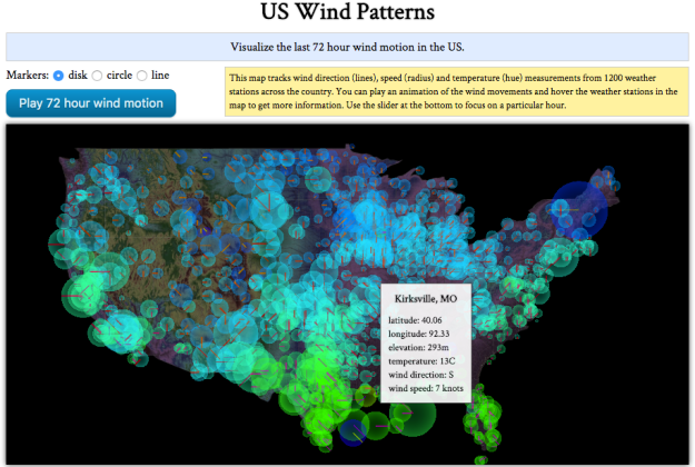 US wind patterns map