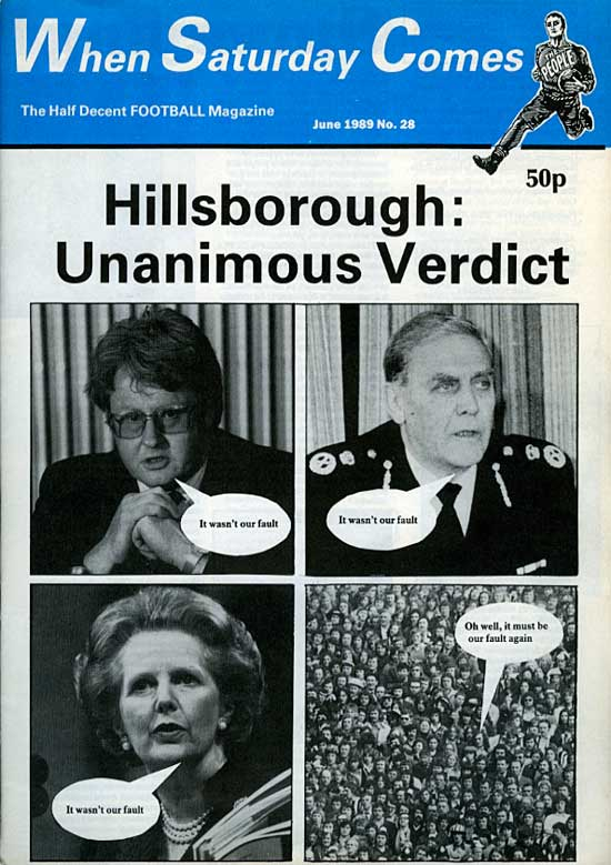 when saturday comes hillsborough front cover