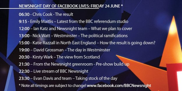 facebook live bbc newsnight running order