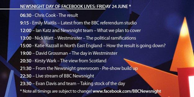facebook live bbc newsnight running order