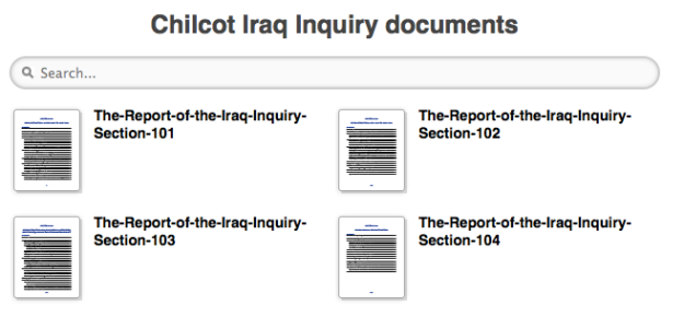 chilcot inquiry search