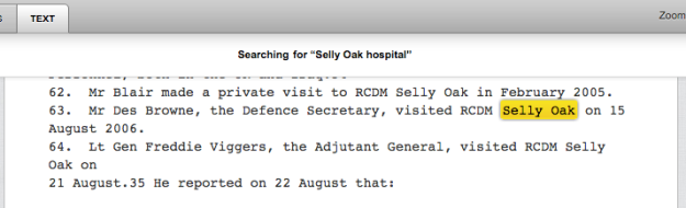selly oak hospital in context