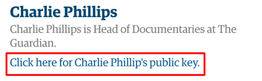Click here for Charlie Phillips public key